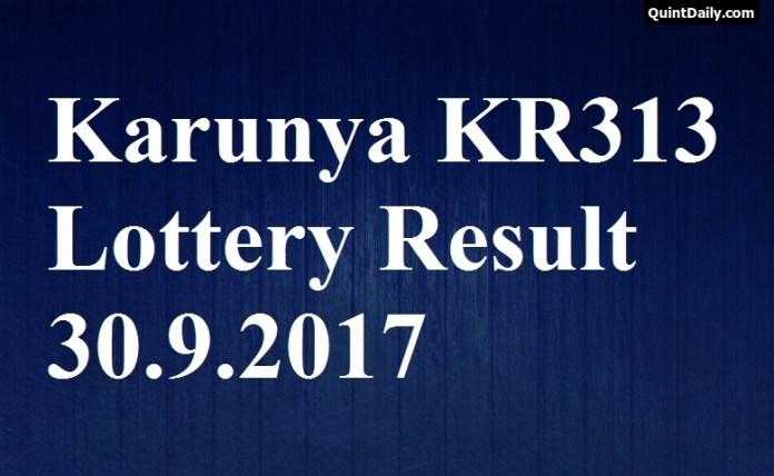 Karunya Lottery Result KR313 Live