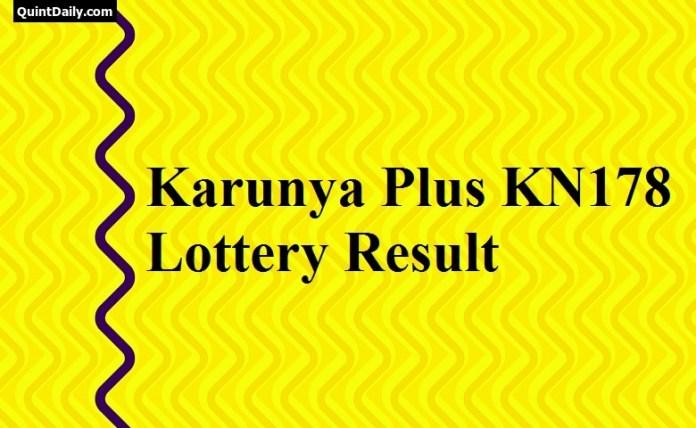 Karunya Plus KN178 Lottery Result