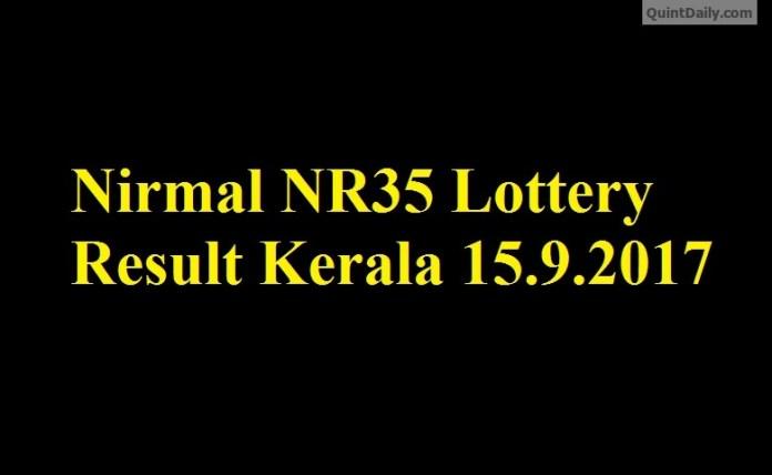 Nirmal NR35 Lottery Result