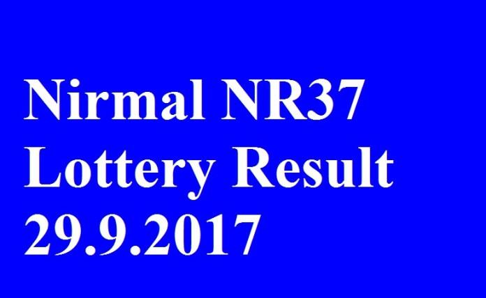 Nirmal NR37 Lottery Result