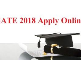 GATE 2018 Apply Online
