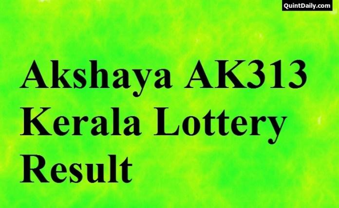 Akshaya Ak313 Lottery Result