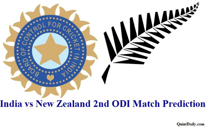 India vs New Zealand 2nd ODI Match Prediction