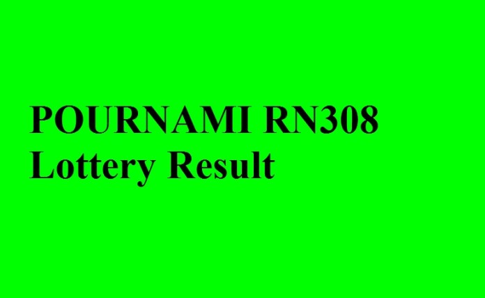 POURNAMI RN308 Lottery Result