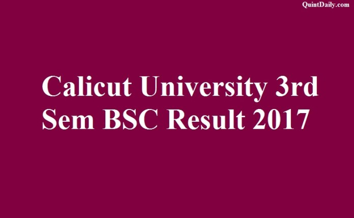 Calicut University Result