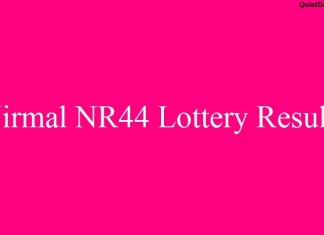 Nirmal NR44 Lottery Result