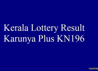 Karunya Plus KN196
