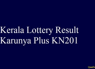 Karunya Plus KN201 #KeralalotteryResult #Karunyapluskn201 Quintdaily.com
