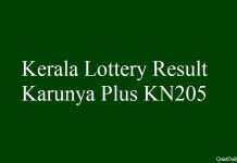 Kerala Lottery Result Today Karunya Plus KN205 - 22.3
