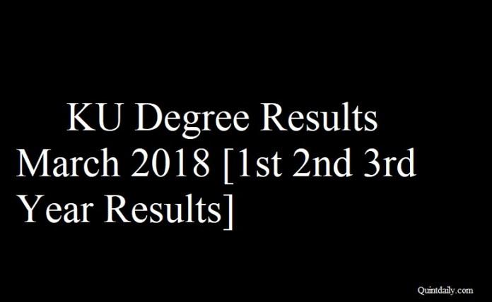 KU Degree Results March 2018