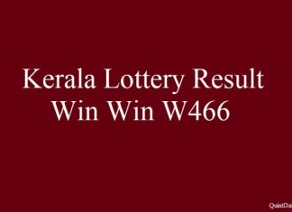 Kerala Lottery Result 25.6.2018 Win Win W466 Today