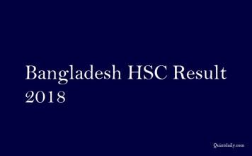 Bangladesh HSC Result 2018