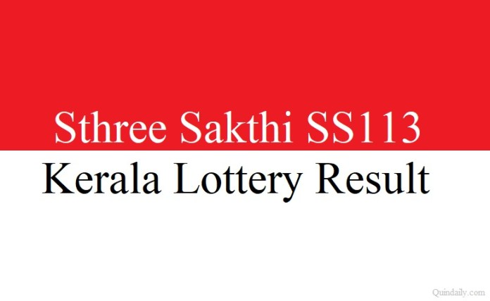 Sthree Sakthi SS113 #lotteryresult #money quintdaily.com