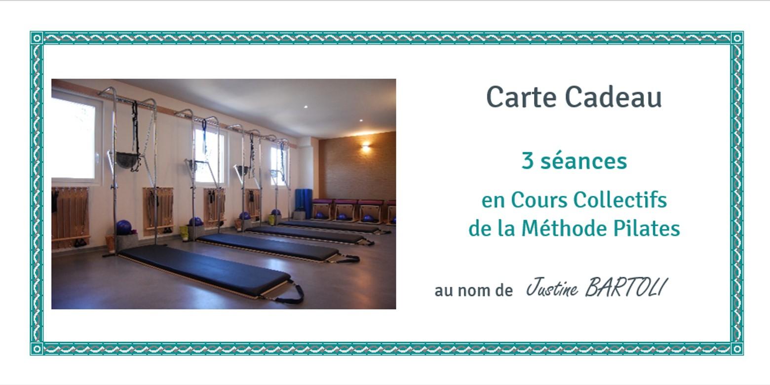 Cartes Cadeaux Cours Pilates Collectifs