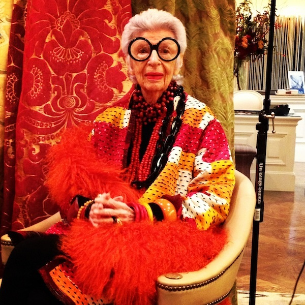 Iris Apfel at Stark Carpet