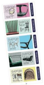 Fem stolar har valts ut att representera svensk finsittning.