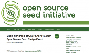 Open Source Seed Initiative    Free the Seed!