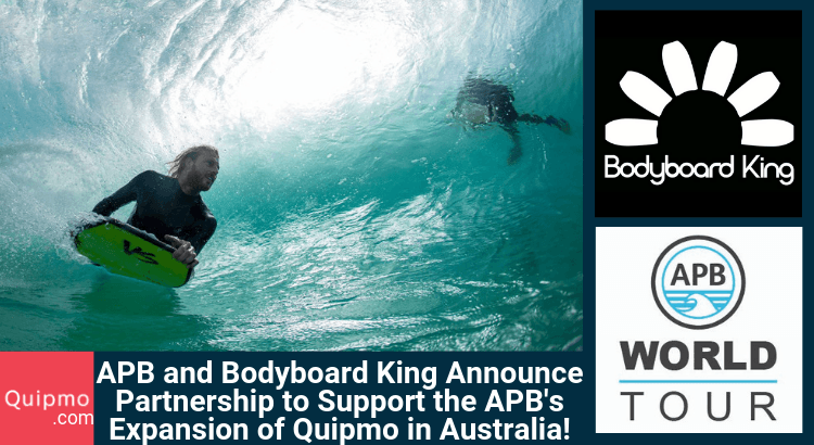 APB and Bodyboard King Announce Partnership to Support the APB's Expansion of Quipmo in Australia!