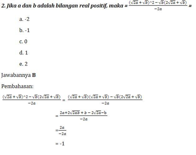 Belajar Pembahasan Soal Matematika Dasar Sbmptn Yuk