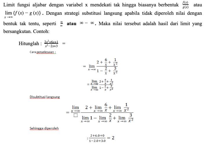 Limit Fungsi Aljabar Matematika Kelas 11 Quipper Blog