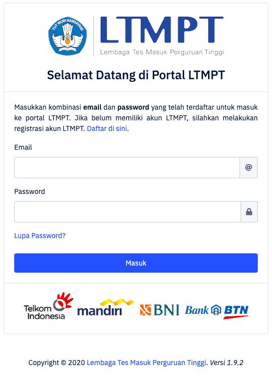 2. LTMPT Log in