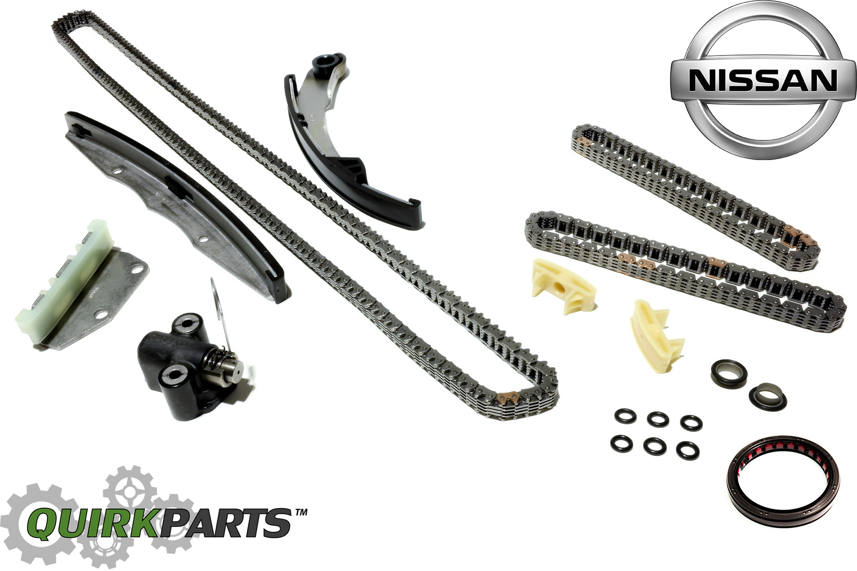 Nissan Frontier Pathfinder Xterra Upper Amp Lower Camshaft Timing Chain Kit Oem