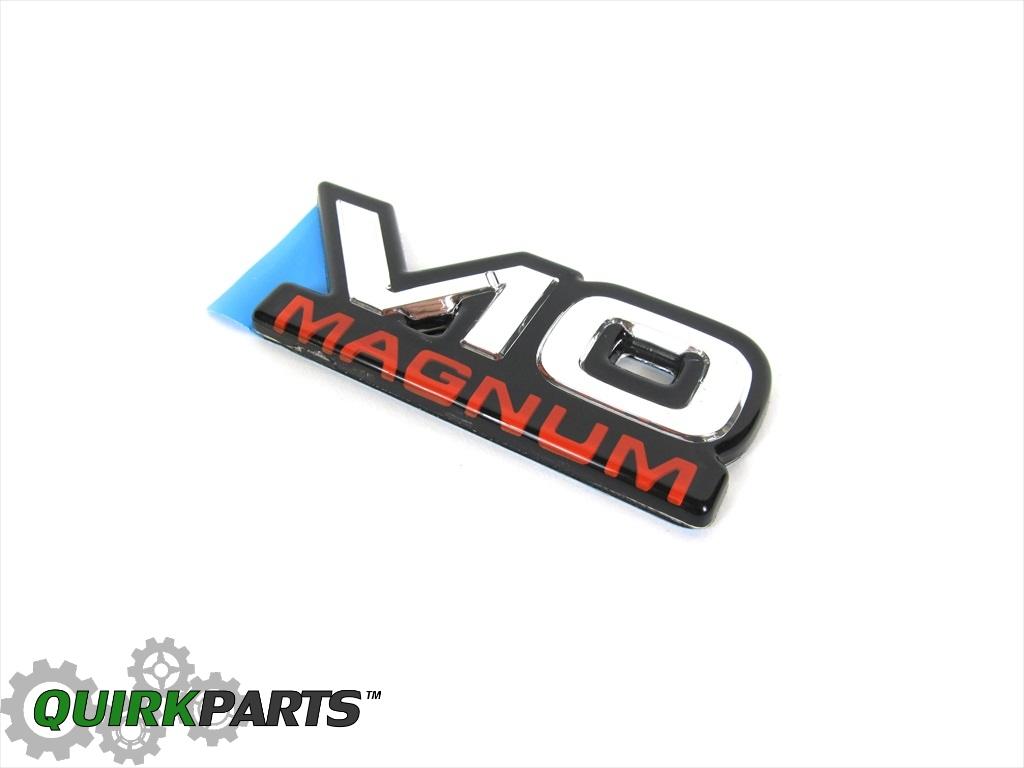 94 02 Dodge Ram Chrome Red Black V10 Magnum Emblem