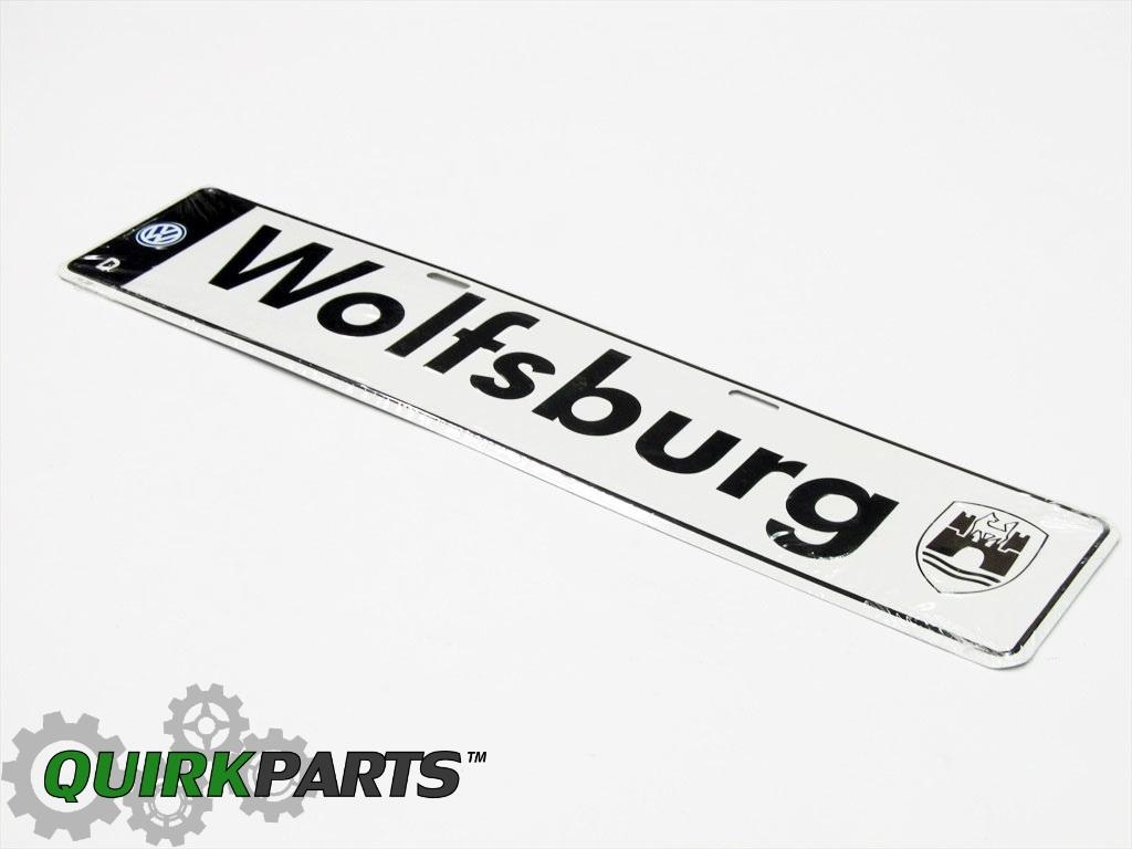 Vw Volkswagen Aluminum Wolfsburg Euro Plate European
