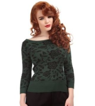 Collectif rose brocade jumper