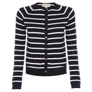 Black and white striped lindy bop cardigan