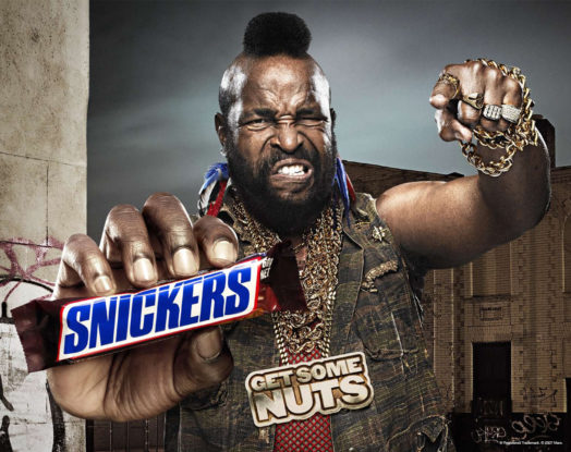 Snickers and Mr. T