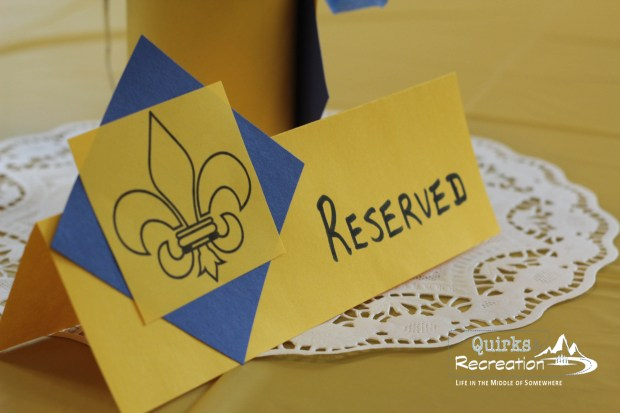 Reserved table sign - Blue and Gold Banquet