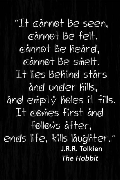 Tolkien darkness/night quote