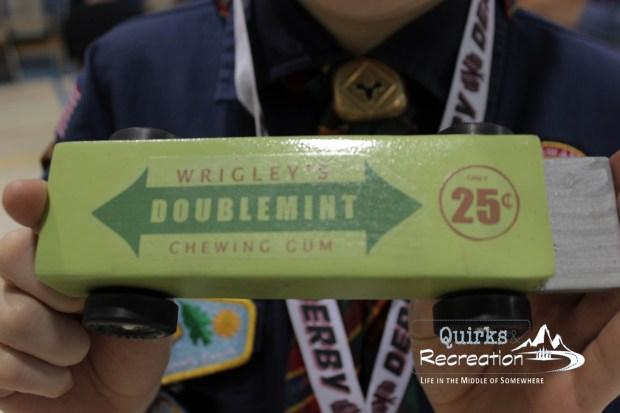 Doublemint Gum - Cub Scout Pinewood Derby Car