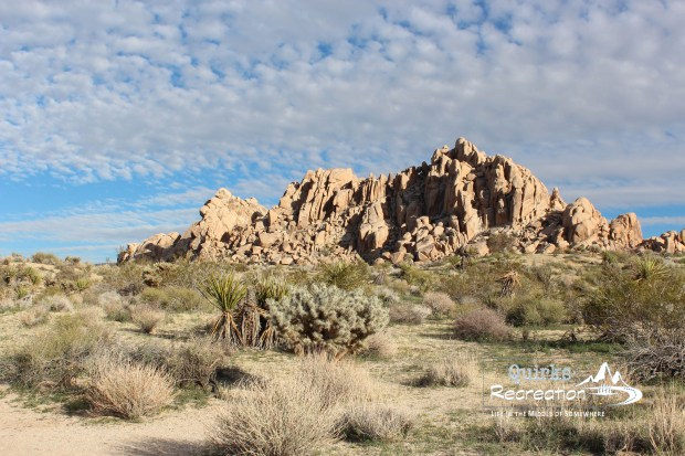 Hiking trail at Indian Cove in Joshua Tree National Park