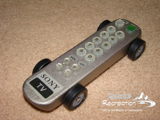TV Remote - Cub Scout Pinewood Derby Car