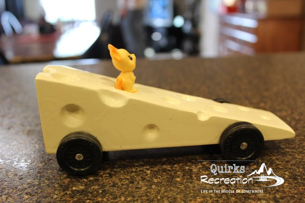 Swiss Cheese - Cub Scout Pinewood Derby Car