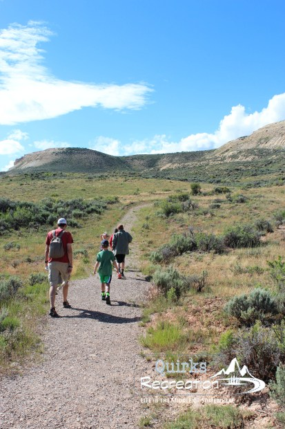 Setting out to hike the Historic Quarry Trail at Fossil Butte National Monument
