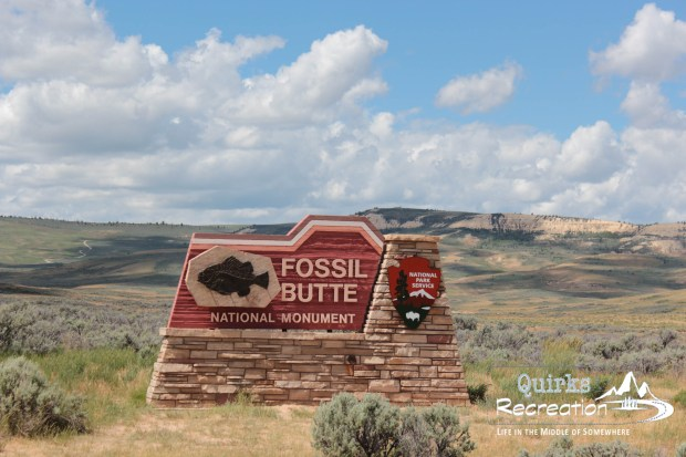Entrance sign at Fossil Butte National Monument