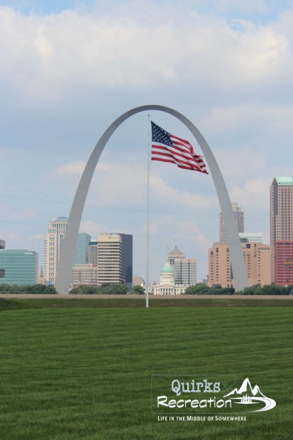 View of Gateway Arch from Malcolm W. Martin Memorial Park