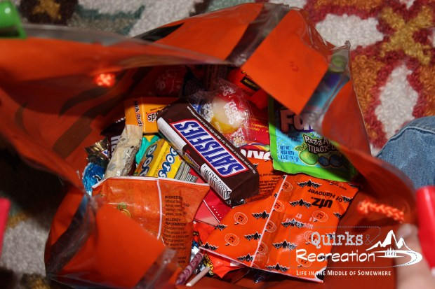 Halloween bag full of candy