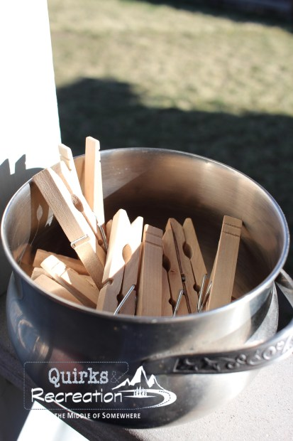 bowl of clothespins