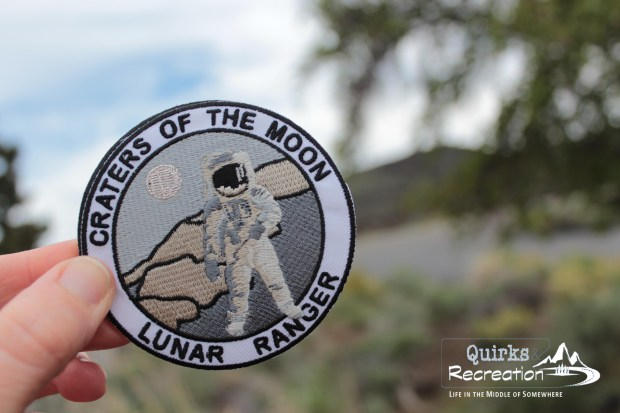 junior ranger patch from Craters of the Moon