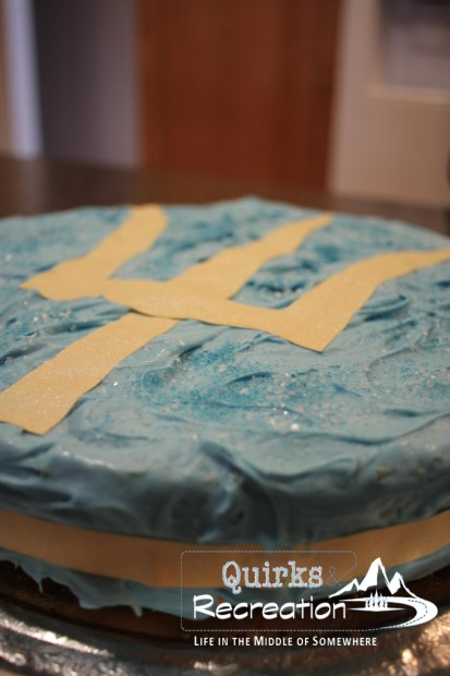 Percy Jackson cake with trident