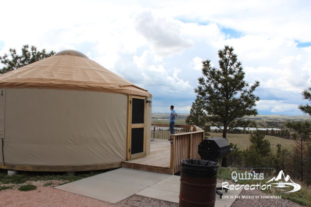 yurt at Guernsey State Park Wyoming
