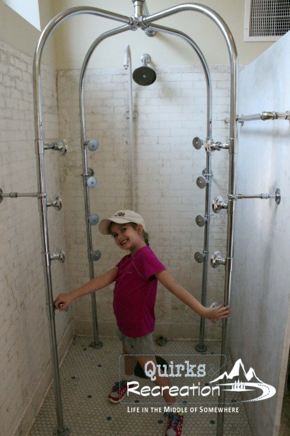 Fordyce Bathhouse shower - Hot Springs National Park