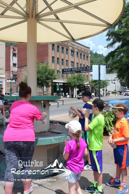 Public water fountain station in Hot Springs, Arkansas