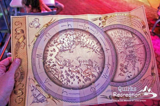 Wizard wand map - Universal Orlando