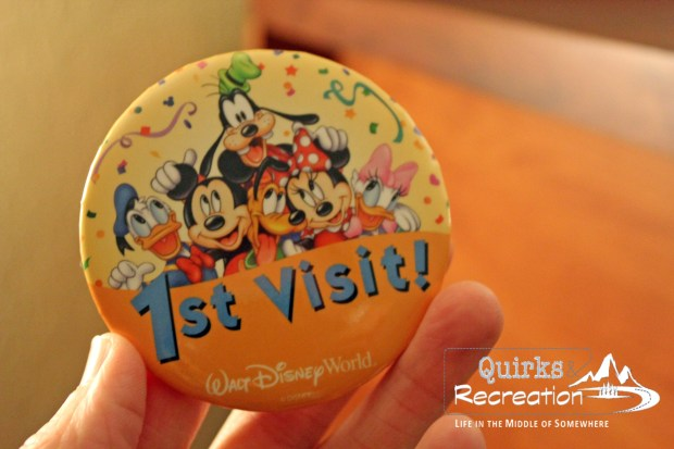 1st visit badge Walt Disney World