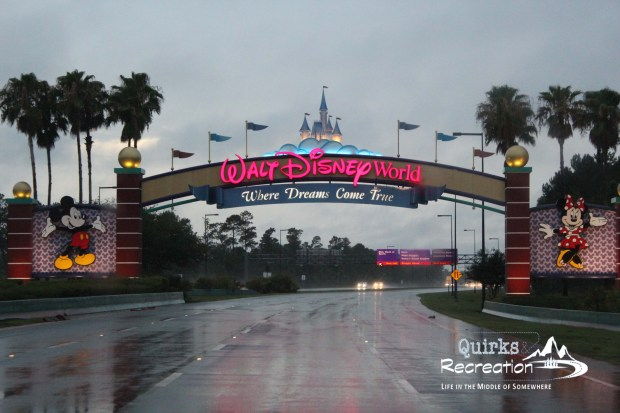 Arch into Walt Disney World property Florida